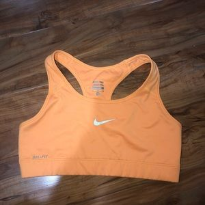 Nike yellow sport bra